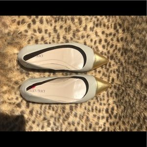 Women's pointed toe kitten heel